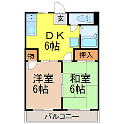 City TK(シティーティーケー)[102号室]の間取り