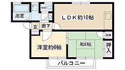 ディアライフミシマ[1階]の間取り