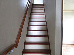 階段には手摺が...