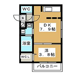 NICO麻生[4階]の間取り