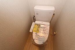 温水洗浄便座で清潔にご利用いただけますね。