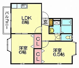 フィルイーズ4[1階]の間取り
