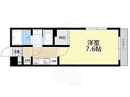 京王井の頭線 井の頭公園駅 徒歩8分の賃貸マンション 2階1Kの間取り