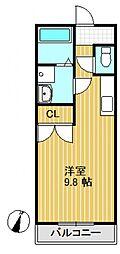 ハートハウス[1階]の間取り