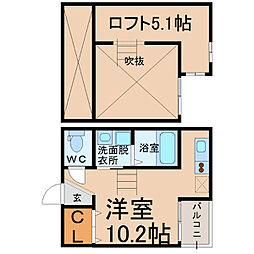 Hause(ハウゼ)[103号室]の間取り