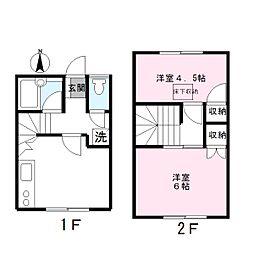 [テラスハウス] 東京都国分寺市本多2丁目 の賃貸【/】の間取り