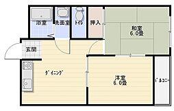 マンション藤2号館[1階]の間取り