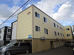 北海道札幌市北区百合が原10丁目の賃貸アパートの外観