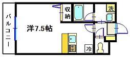 スターダスト新百合[1階]の間取り