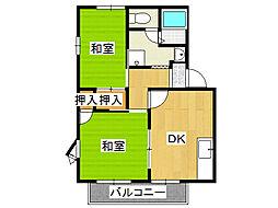プチメゾン伊賀ケ[2階]の間取り