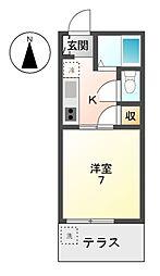 愛知県稲沢市稲沢町北山の賃貸マンションの間取り