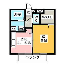 メゾン・ドレシャトー[1階]の間取り