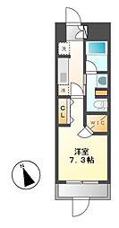 パークアクシス東別院[7階]の間取り