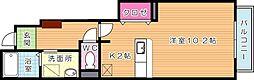 サンフレイムYABEI B棟[1階]の間取り