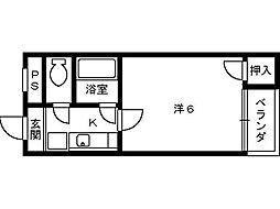 シルフィード堺[502号室]の間取り