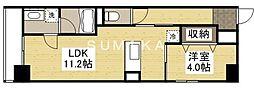 エスプリ大雲寺 5階1LDKの間取り