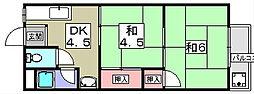 泉マンション[2階]の間取り