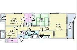 コロナール上野西[301号室]の間取り