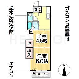 愛知県名古屋市瑞穂区下坂町4丁目の賃貸マンションの間取り