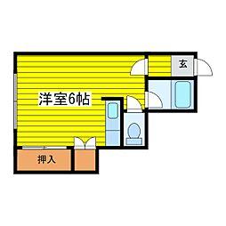 北海道札幌市東区北十一条東6丁目の賃貸アパートの間取り