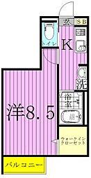 プランドール東松戸[101号室]の間取り