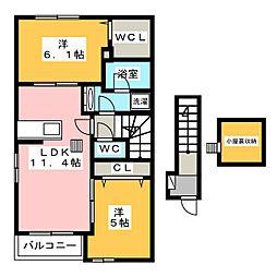 プラトリーナ[2階]の間取り