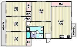 槇塚台C住宅1号棟[5階]の間取り