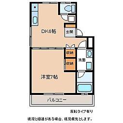 遠見原ハイツII[2階]の間取り