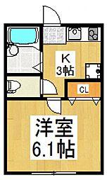 AZEST-RENT一橋学園II[2階]の間取り