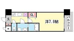 エスリード神戸三宮ノースゲート[1103号室]の間取り