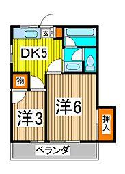 ファインK[1階]の間取り