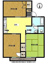 パールハイツ岡田37[2階]の間取り