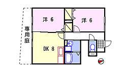兵庫県姫路市御立東3丁目の賃貸アパートの間取り