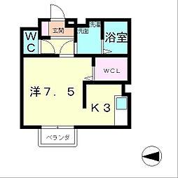 滋賀県大津市和邇高城の賃貸アパートの間取り