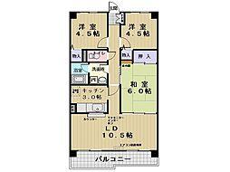 ビラ玉川学園台[3階]の間取り