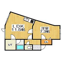 アクセス室蘭[2階]の間取り