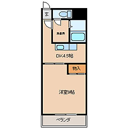 パークハウス一条[B106号室]の間取り