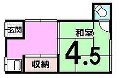 川野コーポ[201号室]の間取り