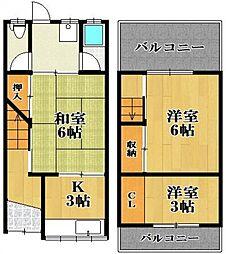 [テラスハウス] 大阪府松原市三宅西2丁目 の賃貸【/】の間取り