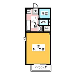 フォレ・クレール[3階]の間取り