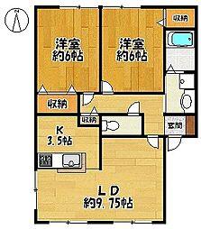 サンパティーク A[2階]の間取り