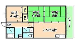 ニューナイスマンション[2階]の間取り