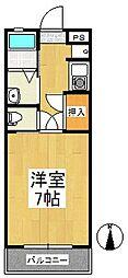 ロックフィル日ノ出[1階]の間取り