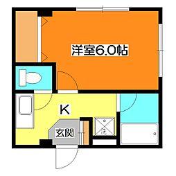 東京都東久留米市前沢5丁目の賃貸マンションの間取り