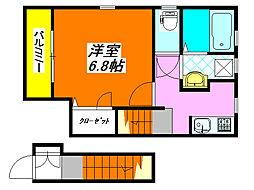 仮) 長栄寺PJ 202号室[2階]の間取り