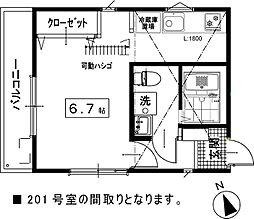 仮称)西富1丁目アパート[201号室]の外観