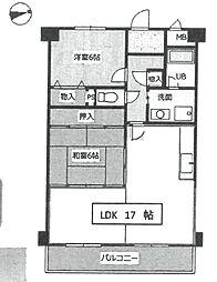 ウィステリア武庫之荘[206号室]の間取り