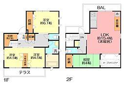 [一戸建] 神奈川県横浜市保土ケ谷区桜ケ丘1丁目 の賃貸【/】の間取り