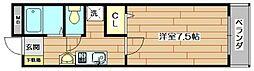 ラフィーネ筒井[3階]の間取り