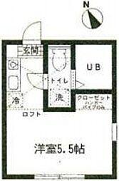 ハーミットクラブハウス岡沢町B棟[2階]の間取り